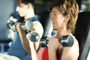 Two with dumbbells