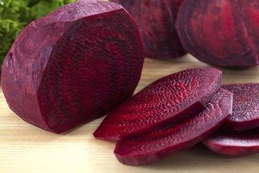 Sliced beet closeup