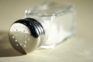 Close-up of a salt shaker