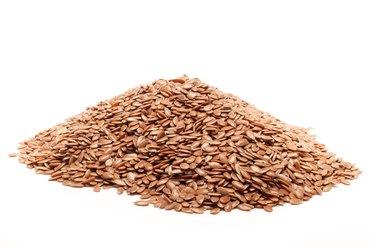 Pile of Organic Flaxseed.