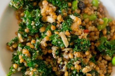 Raw Paleo Kale and Quinoa Superfood Salad