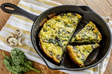Spinach Mushroom and Egg Frittata