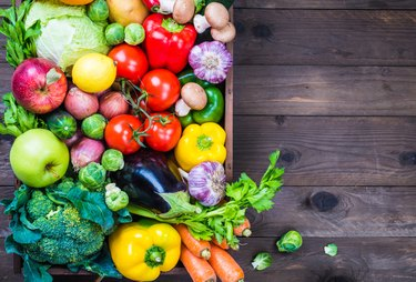 A colorful assortment of fruits and vegetables