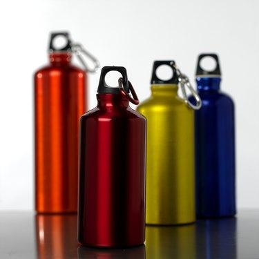 Water bottles, close up