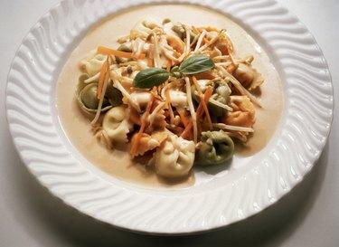 Tortellini with Vegetable Cream Sauce