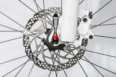 Bicycle disc brake - Stock Image