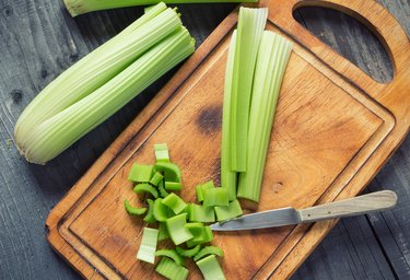 Fresh green celery