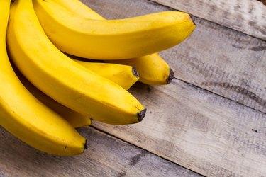 bananas on wood