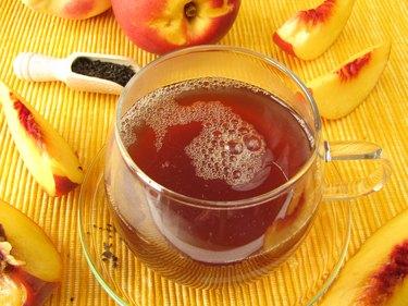 Black tea with peach and nectarine