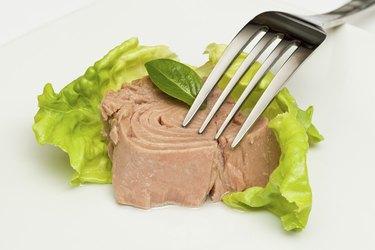 Canned tuna chunks