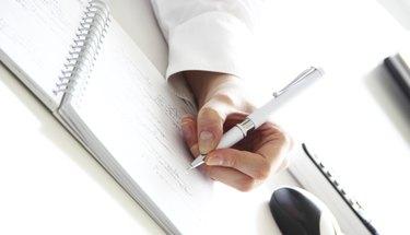 Writing financial