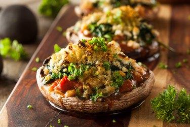 Homemade Baked Stuffed Portabello Mushrooms