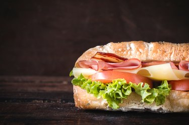 sandwich and blank space