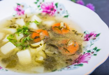 Fresh cucumber soup