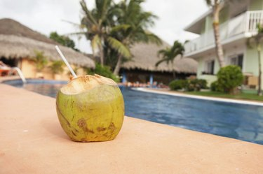 Coconut Drink Poolside