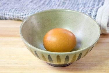 boiled eggs in Japanese Bowl