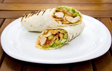 Doner kebap - Chicken Salad Sandwich Wrap