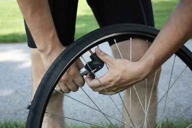 Inflating a bike tire