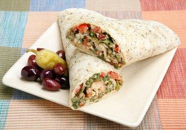 taboule wrap sandwich