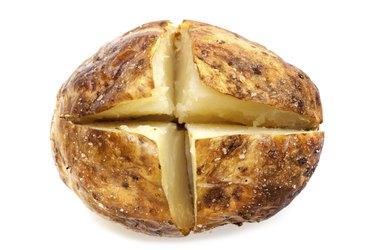 Baked Potato Isolated on White