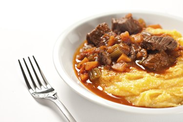 Polenta and stew