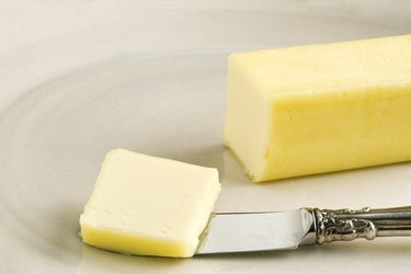 Butter on Handmade Plate