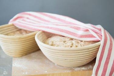 Rising bread dough
