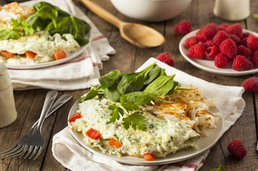 Healthy Spinach Egg White Omelette