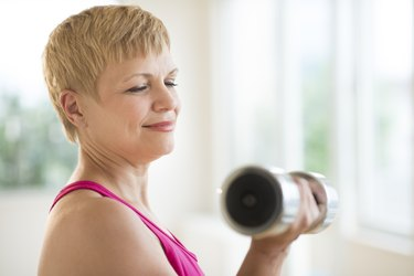 Mature Woman Lifting Weights