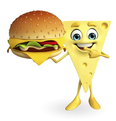 Cheese Character with burger