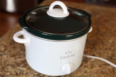 small white Crock-Pot