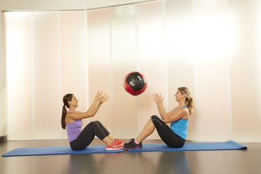 partner medicine ball sit-ups