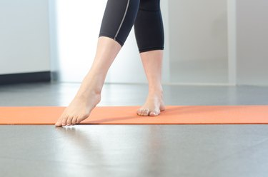 Woman performing Asterisk exercise for foot pain