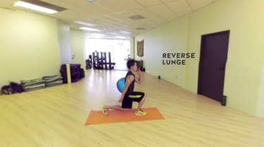 Fitness expert Derek Change demonstrates how to perform a reverse lunge.
