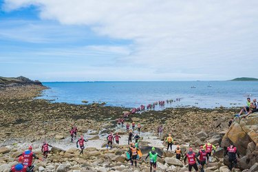 People participating in OTILLO Swimrun World Championship