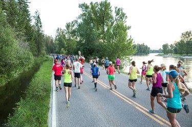 People running the Missoula Marathon
