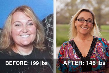 Rebecca lost 53 pounds and dropped five sizes!