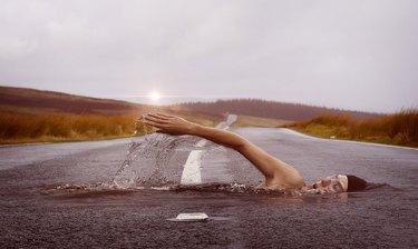 Dry land exercises will help develop more swim stamina.