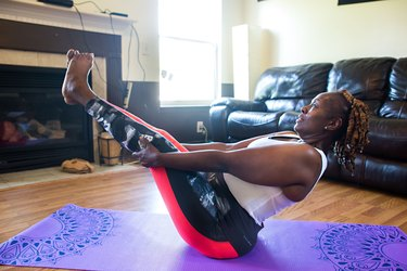 """""""Don't feel discouraged if you need to modify an exercise or if you can't do it for as long as you'd like."""""""
