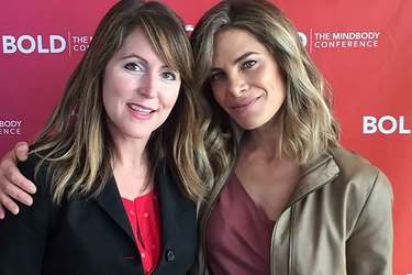 LIVESTRONG GM Jess Barron and wellness coach Jillian Michaels