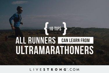 trail running man