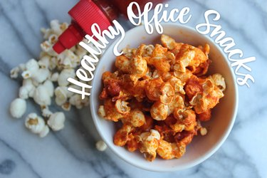 Sriracha popcorn, banana-almond butter sandwiches and avocado tartare are healthy fuel to keep you full throughout the workday.