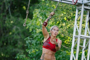 Woman on the course for Spartan Ultra Beast