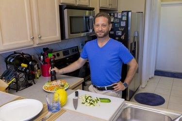 Evan eats a very clean diet and has two splurge meals a week.
