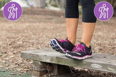 Woman Doing Toe Raises to Prevent Injury