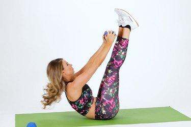 A Full V-Up to a Bent Leg V-Up is a perfect example of a compound move.