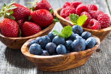 Bowls of fresh berries