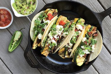 Tacos in a skillet