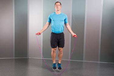 Man Demonstrating How to Do Simple Jump Rope