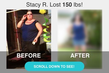 Stacy's before and after photos.